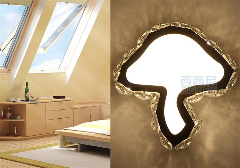 创意蘑菇水晶壁灯2
