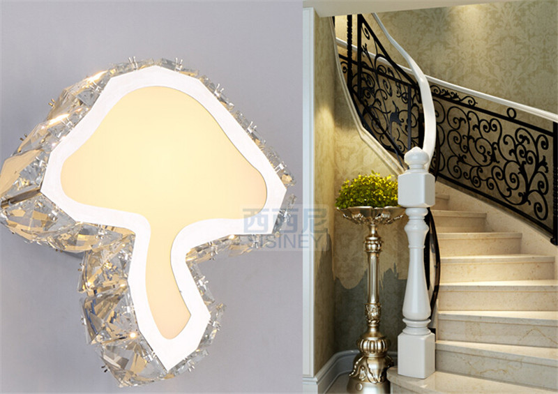 创意蘑菇水晶壁灯3